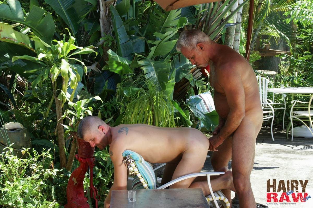 Hairy-and-Raw-Daddy-Jeff-Grove-and-Christian-Matthews-Bareback-BBBH-Amateur-Gay-Porn-11 Amateur Hairy Silver Daddy With Thick Cock Barebacks His Hung Pool Boy