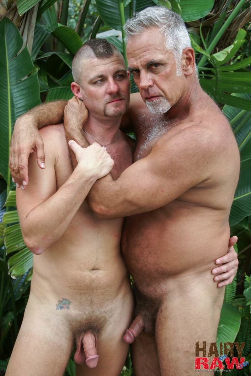 Hairy-and-Raw-Daddy-Jeff-Grove-and-Christian-Matthews-Bareback-BBBH-Amateur-Gay-Porn-14 Amateur Hairy Silver Daddy With Thick Cock Barebacks His Hung Pool Boy